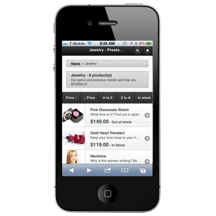 module - Neutro - PrestaShop Mobile Template 1.4 - 9