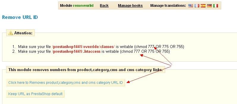 Remove URL ID PrestaShop Rewrite URL 去除ID数字 让URL更符合SEO更美观更简短